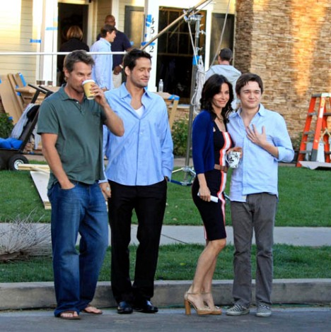 Brian Van Holt, Josh Hopkins, Courteney Cox, Dan Byrd